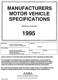 1995 Pontiac Sunfire MVMA | eBooks | Automotive