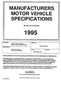1995 pontiac trans sport se mvma