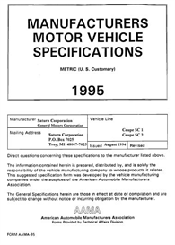 1995 saturn sc mvma