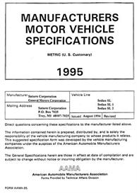 1995 saturn sl mvma