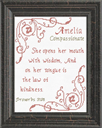 Name Blessings - Amelia   Crafting   Cross-Stitch   Religious