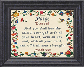 Name Blessings - Paige | Crafting | Cross-Stitch | Religious