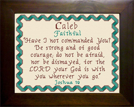 Name Blessings - Caleb 4 | Crafting | Cross-Stitch | Other