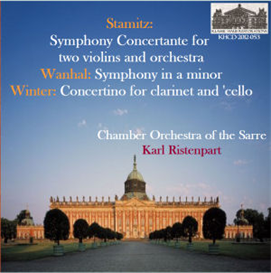 Stamitz: Symphony Concertante for two violins and orchestra; Wanhal: Symphony in a minor; Winter Concertino for clarinet and 'cello - Chamber Orchestra of the Sarre/Karl Ristenpart | Music | Classical
