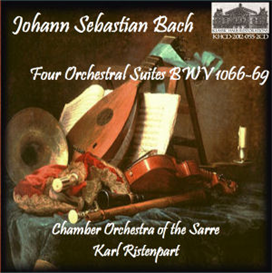 js bach: orchestral suites, bwv 1066-1069 - roger bourdin, flute; maurice andré, marcel lagorce, jacques mas, trumpets; chamber orchestra of the sarre/karl ristenpart -
