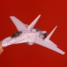 Paper Su-27 White | Crafting | Paper Crafting | Paper Models