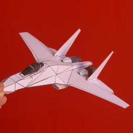 paper su-27 white