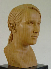 carving the female head