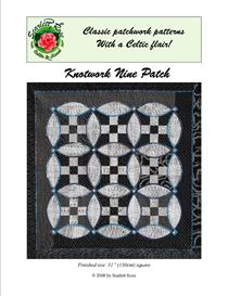 knotwork nine patch quilt pattern