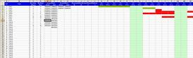 simple project plan / gantt chart