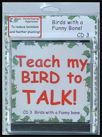 teach my bird to talk cd 3 - birds with a funny bone! - instant download over 90 mp3s, this is not a physical disc.