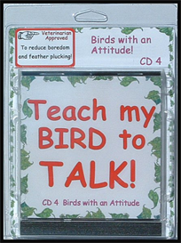 teach my bird to talk cd 4 - birds with an attitude! - instant download over 90 mp3s, this is not a physical disc.