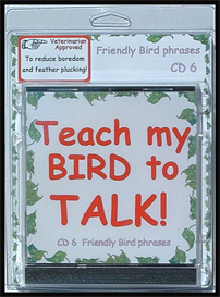 teach my bird to talk cd 6 - friendly bird phrases! - instant download over 90 mp3s, this is not a physical disc.