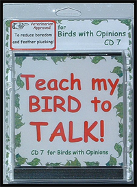 teach my bird to talk cd 7 - birds with opinions! - instant download over 90 mp3s, this is not a physical disc.