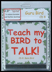 teach my bird to talk cd 8 - guru bird - advanced phrases! - instant download over 90 mp3s, this is not a physical disc.