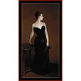 madame x - sargent cross stitch pattern by cross stitch collectibles