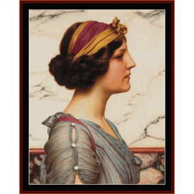 megilla, godward cross stitch pattern by cross stitch collectibles