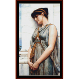 grecian reverie, godward cross stitch pattern by cross stitch collectibles