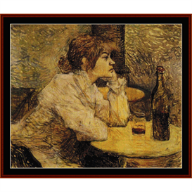Hangover - Lautrec cross stitch pattern by Cross Stitch Collectibles | Crafting | Cross-Stitch | Wall Hangings