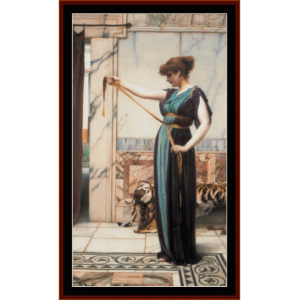 a pompeian lady - alma-tadema cross stitch pattern by cross stitch collectibles