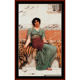 sweet dreams - alma-tadema cross stitch pattern by cross stitch collectibles