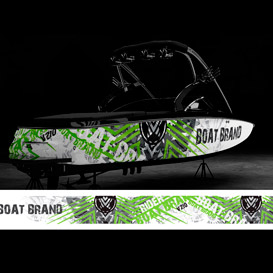 wings boat graphic