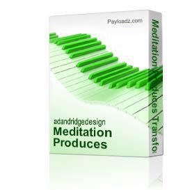 Meditation Produces Transformation pt. 2 | Music | Gospel and Spiritual