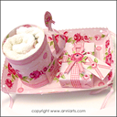 Allmoge Folk Roses Gift Tray Cupcakes LPDF   Crafting   Paper Crafting   Other