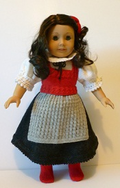doll knitting pattern - c005 - austrian traditional costume