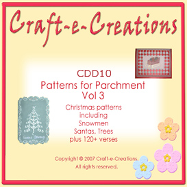 craft-e-creations patterns for parchment  vol 3
