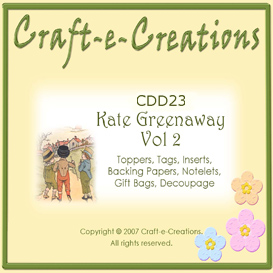 craft-e-creations kate greenaway vol 2