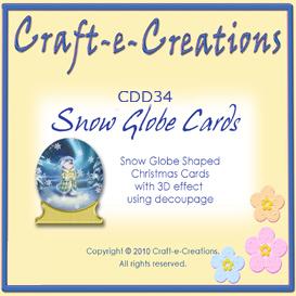 craft-e-creations snow globe cards