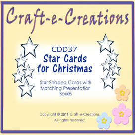 craft-e-creations star cards for christmas
