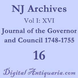 NJ Archives (I:XVI) Journal of the Governor and Council 1748-1755 (1891) | Audio Books | History