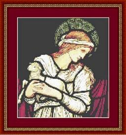Angel with Lamb Cross Stitch | Other Files | Patterns and Templates