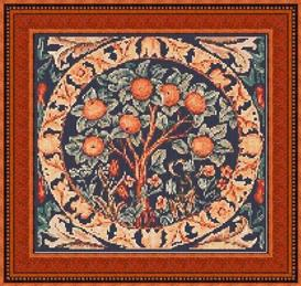 """the orange tree"" cross stitch pattern"