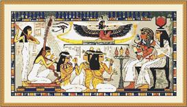 egyptian scene cross stitch pattern