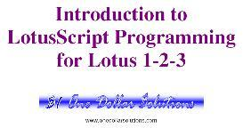 lotusscript programming for lotus 1-2-3