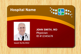 Hospital ID Template #3 | Other Files | Patterns and Templates