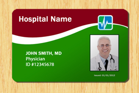 Hospital ID Template #4 | Other Files | Patterns and Templates