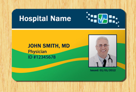 hospital id badge template - download