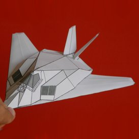 Paper F-117 White | Crafting | Paper Crafting | Paper Models