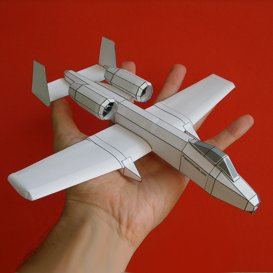 Paper A-10 White | Crafting | Paper Crafting | Paper Models