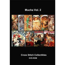 mucha collection vol 2 cross stitch pattern by cross stitch collectibles