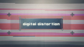 after effects template - digital distortion text