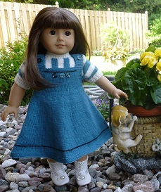 doll knitting pattern-d004-daisy-teal & antique white