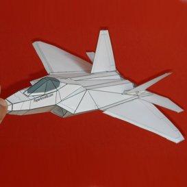 paper f-22 white