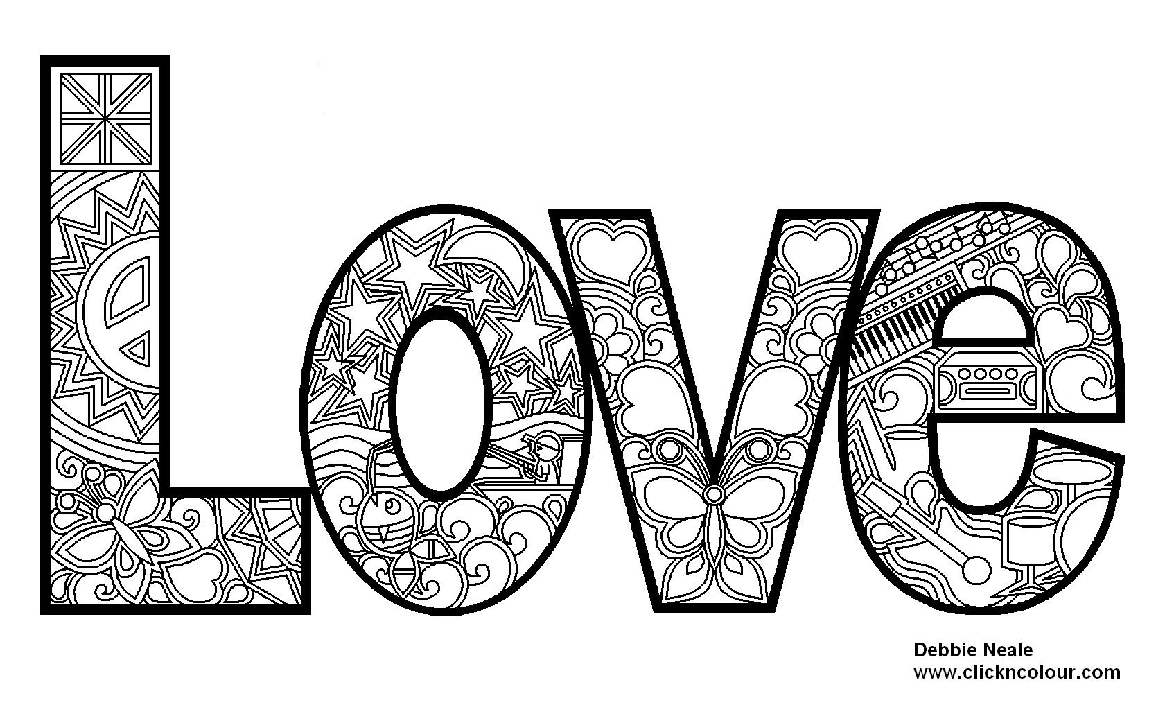Love Coloring Design | Photos and Images | Clip Art