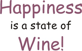 happiness is a state of wine machine embroidery file