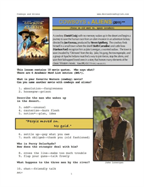 cowboys & aliens, whole-movie english (esl) lesson